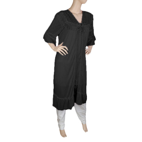 Women's Nighty 2 Pcs Set - Black -  Black - test-store-for-chase-value