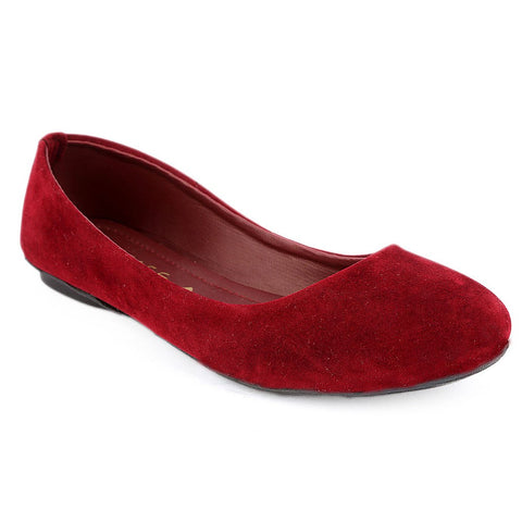 Women's Velvet Pumps 1820 - Maroon - test-store-for-chase-value