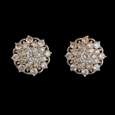 American Diamond Ear Tops - Golden - test-store-for-chase-value