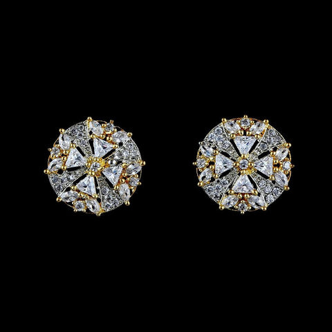 American Diamond Ear Tops - Golden & Silver - test-store-for-chase-value