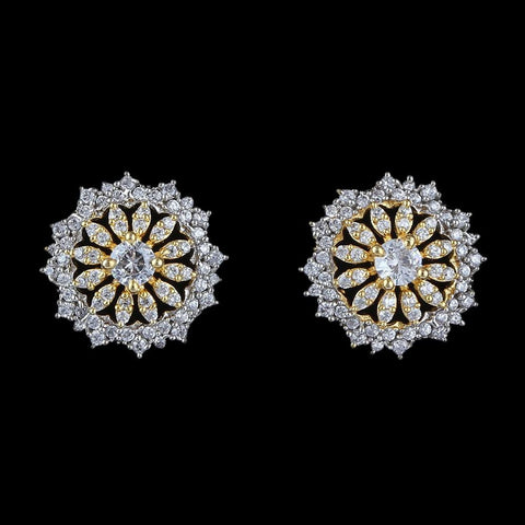 American Diamond Ear Tops - Silver & Golden - test-store-for-chase-value