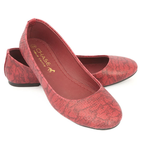 Women's Fancy Pumps - Maroon