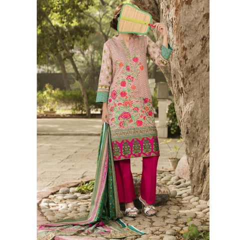 Ayesha Alishba Lawn 3 Piece Suit Vol 1 - 05B - test-store-for-chase-value