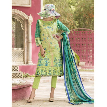 Ayesha Alishba Lawn 3 Piece Suit Vol 1 - 06B - test-store-for-chase-value