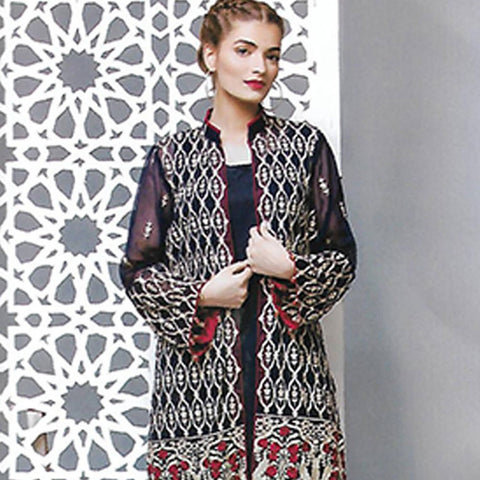 Sahil Embroidered Poly Net Un-Stitched Kurti - ZS 01 - test-store-for-chase-value