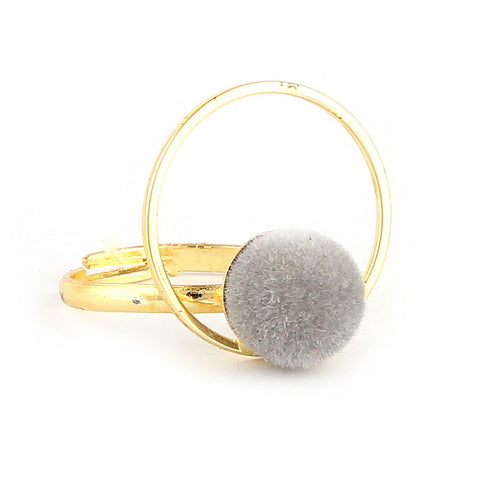 Women's Finger Ring - Grey -  Grey - test-store-for-chase-value