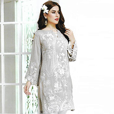 Sahil Embroidered Karandi Un-Stitched Kurti - ZS 03 - test-store-for-chase-value