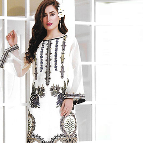 Sahil Embroidered Tissue Un-Stitched Kurti - ZS 05 - test-store-for-chase-value