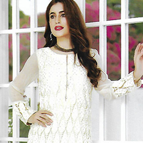 Sahil Embroidered Poly Net Un-Stitched Kurti - ZS 08 - test-store-for-chase-value