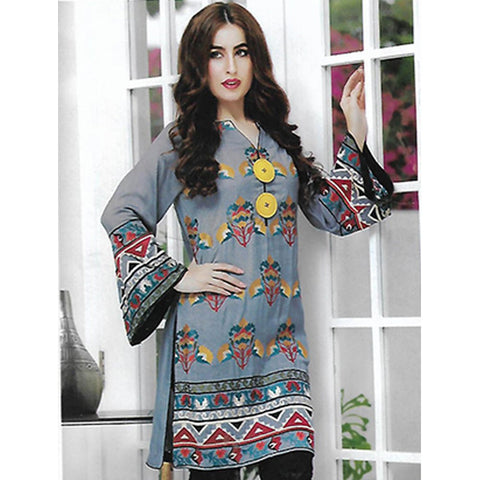 Sahil Embroidered Cotton Crepe Un-Stitched Kurti - ZS 09 - test-store-for-chase-value