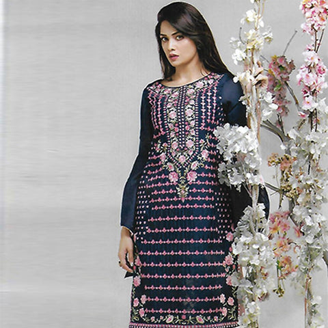 Sahil Embroidered Cotton Crepe Un-Stitched Kurti - ZS 10 - test-store-for-chase-value