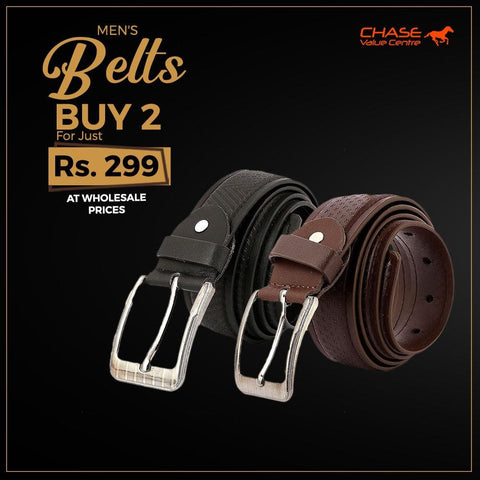 Men's Formal Belts Pack Of 2 - Multi - test-store-for-chase-value