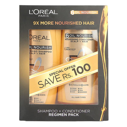LOREAL Shampoo + Conditioner Regimen Pack - 175 ML - test-store-for-chase-value