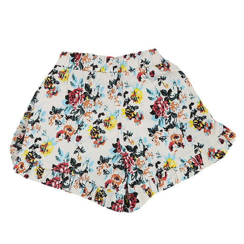 Girls Cotton Short - White -  White - test-store-for-chase-value
