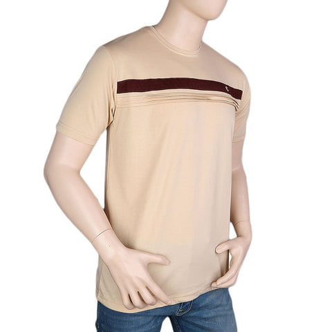 Round Neck T-Shirt For Men - Fawn -  Fawn - test-store-for-chase-value