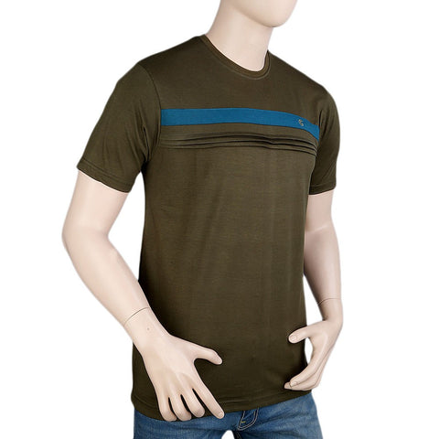 Round Neck T-Shirt For Men - Green -  Green - test-store-for-chase-value