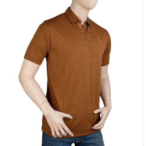 Polo T-Shirt For Men - Brown -  Brown - test-store-for-chase-value