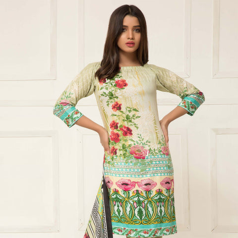Signature Icon Printed Lawn 3 Piece Un-Stitched Suit Vol 01 - 06 A - test-store-for-chase-value