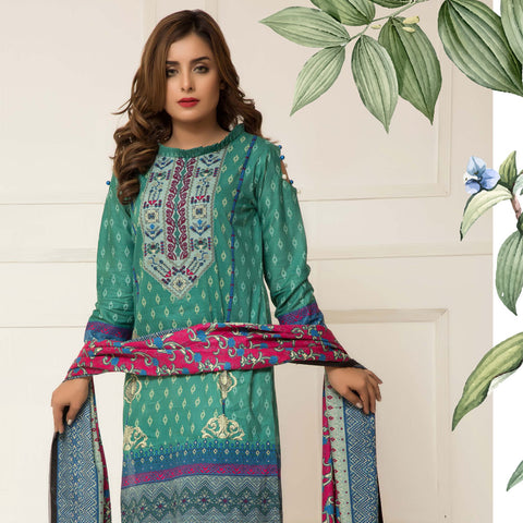 Signature Icon Printed Lawn 3 Piece Un-Stitched Suit Vol 01 - 08 A - test-store-for-chase-value