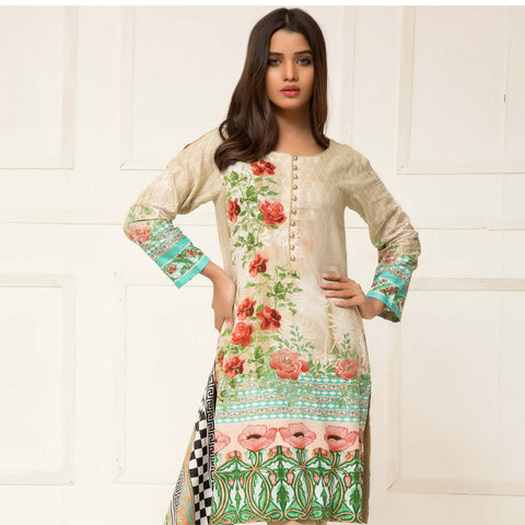 Signature Icon Printed Lawn 3 Piece Un-Stitched Suit Vol 01 - 06 B - test-store-for-chase-value