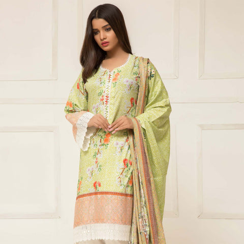 Signature Icon Printed Lawn 3 Piece Un-Stitched Suit Vol 01 - 09 B - test-store-for-chase-value