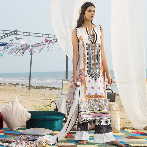 Ayesha Ibrahim Embroidered Lawn Un-Stitched Suit - Allure - test-store-for-chase-value