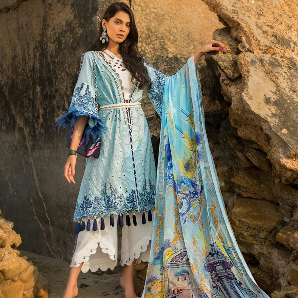 Ayesha Ibrahim Embroidered Lawn Un-Stitched Suit - Luxe