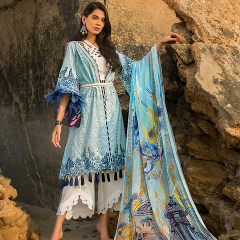Ayesha Ibrahim Embroidered Lawn Un-Stitched Suit - Luxe - test-store-for-chase-value