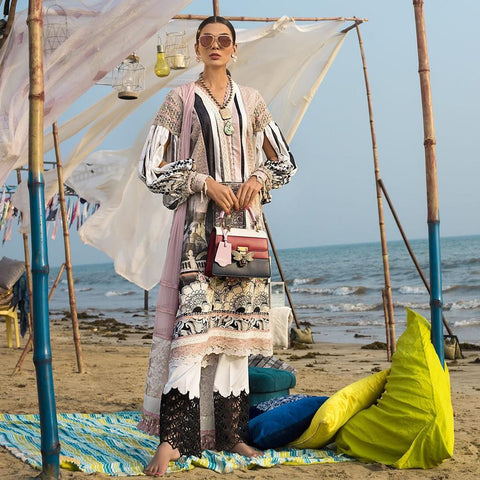 Ayesha Ibrahim Embroidered Lawn Un-Stitched Suit - Enchant - test-store-for-chase-value