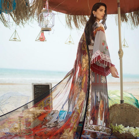 Ayesha Ibrahim Embroidered Lawn Un-Stitched Suit - Daisy