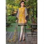Izabell Embroidered Adroit Sable Un-Stitched Suit - test-store-for-chase-value