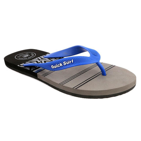 Quick Surf Men's Flip Flop Slippers 2334 - Black & Grey - test-store-for-chase-value
