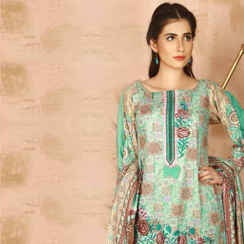 Libas Embroidered 3 Piece Un-Stitched Suit - 3 B - test-store-for-chase-value