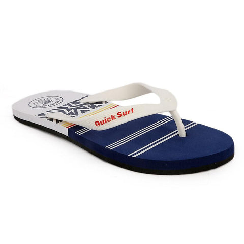 Quick Surf Men's Flip Flop Slippers 2334 - White & Blue - test-store-for-chase-value