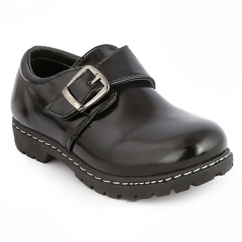 Boys School Shoes (7Z1) BK-2399 - Black - Black - test-store-for-chase-value
