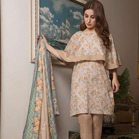 Ittehad Crystal Lawn 3 piece Un-Stitched Suit - 3517 A - test-store-for-chase-value