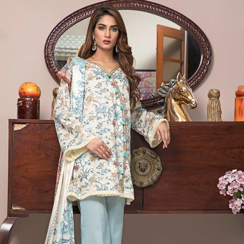 Ittehad Crystal Lawn 3 piece Un-Stitched Suit - 3518 A - test-store-for-chase-value