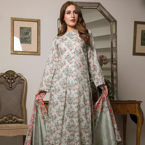 Ittehad Crystal Lawn 3 piece Un-Stitched Suit - 3517 B - test-store-for-chase-value