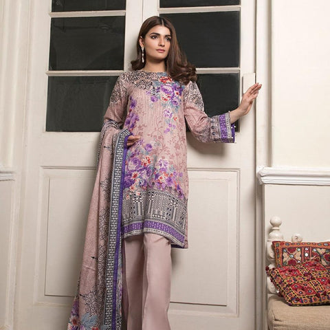 Ittehad Crystal Lawn 3 piece Un-Stitched Suit - 3522 B - test-store-for-chase-value