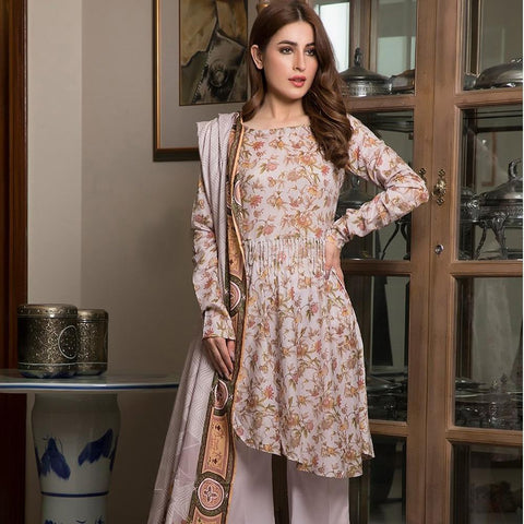 Ittehad Crystal Lawn 3 piece Un-Stitched Suit - 3533 A - test-store-for-chase-value