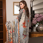 Ittehad Crystal Lawn 3 piece Un-Stitched Suit - 3535 B - test-store-for-chase-value