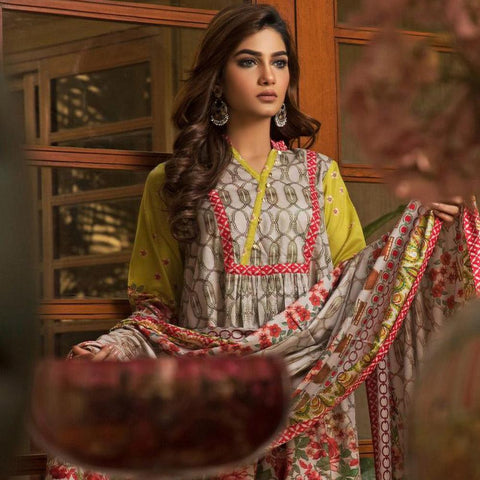 Ittehad Crystal Lawn 3 piece Un-Stitched Suit - 5616 B - test-store-for-chase-value