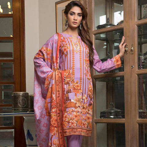 Ittehad Crystal Lawn 3 piece Un-Stitched Suit - 5617 A - test-store-for-chase-value