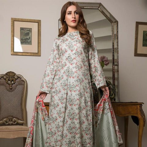 Ittehad Crystal Lawn 3 piece Un-Stitched Suit - 5617 B - test-store-for-chase-value