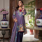 Ittehad Crystal Lawn 3 piece Un-Stitched Suit - 5619 B - test-store-for-chase-value