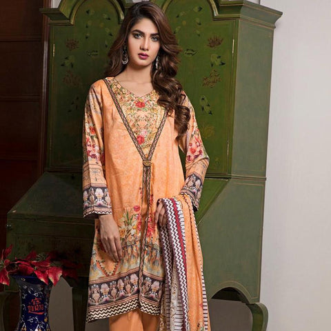 Ittehad Crystal Lawn 3 piece Un-Stitched Suit - 5620 B - test-store-for-chase-value