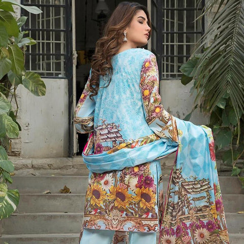 Ittehad Crystal Lawn 3 piece Un-Stitched Suit - 5621 A - test-store-for-chase-value