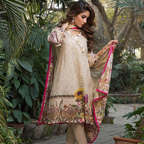 Ittehad Crystal Lawn 3 piece Un-Stitched Suit - 5621 B - test-store-for-chase-value
