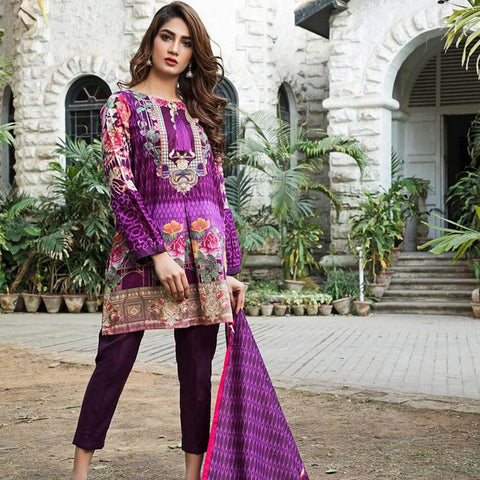 Ittehad Crystal Lawn 3 piece Un-Stitched Suit - 5623 A - test-store-for-chase-value