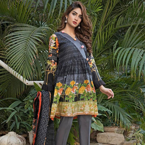 Ittehad Crystal Lawn 3 piece Un-Stitched Suit - 5623 B - test-store-for-chase-value